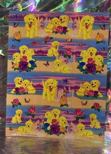 Scentsationery  VINTAGE LISA FRANK PUPPIES & Sandcastles Sheet S951-04 Roses