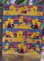 Scentsationery  VINTAGE LISA FRANK PUPPIES & Sandcastles Sheet S951-04 Roses image 1