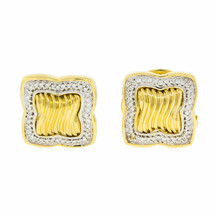 David Yurman Diamond 18K Yellow Gold Ladies Earrings - $2,157.30