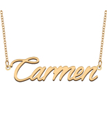 Carmen Name Necklace for Best Friends Family Girl Friend Birthday Gifts - $13.99+