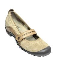 Merrell Plaza Bandeau Tan Women's Black & Tan Slip On Hiking Shoes Flats Size 7 - $24.99