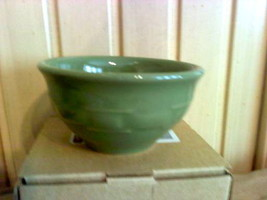 Longaberger Woven Traditions Pottery Dessert Bowl in SAGE!- USA! - $12.74
