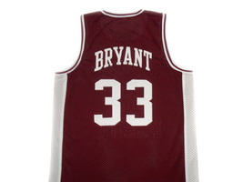 Kobe Bryant #33 Lower Merion High School Basketball Jersey Maroon Any Size image 2