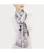 New COLLECTION XIIX 18 Viscoe Rayon Geo Print Paradise Calling Wrap Scarf - $12.98