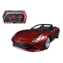 Ferrari California T Burgundy Open Top 1/24 Diecast Model Car by Bburago... - $33.50