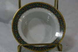 Rosenthal Blue Band Orange Floral Finger Dip Bowl - $6.92
