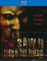 SAW II: JUEGO DEL MIEDO (Blu-ray, 2009) Spanish Language