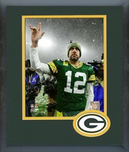 Aaron Rodgers 2019 Green Bay Packers Action-11x14 Logo Matted/Framed Photo - $42.95