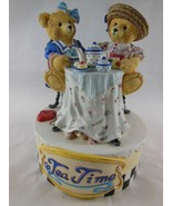 """San Francisco Music Box Tea Time Hand Painted Plays Tea for Two 5"""" x 4"""" ... - $29.69"""