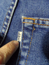 Vintage Levi's Prop Jeans Women 14 Dark Domed Rivet Elastic Band Collectibles - $49.49