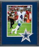 Dak Prescott 2018 Dallas Cowboys -11x14 Team Logo Matted/Framed Photo - $42.95