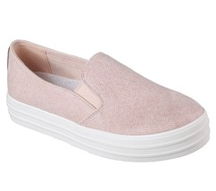 794 Rosa Skechers Schuhe Damen Memory Foam ohne Bügel Plateau Glitzer Sn... - $30.05
