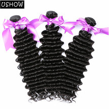"Brazilian Deep Wave Hair 3 Bundles 100% Human Hair Extension 10""-28"" 300... - $75.71+"