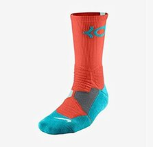 Nike Men's KD Hyper Elite Cushioned Basketball Socks Medium (6-8) Orange... - $98.99