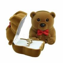 Velvet Bowknot Bear Ring Earring Bracelet Jewelry Display Box Case Stora... - $3.15