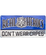 Real Heroes Don't Wear Capes Metal Sign Man Cave Media Room Wall Decoration - $19.99
