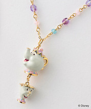 Disney x ANNA SUI Beauty and the Beast Mistress & Chip Necklace Pendant - $432.63