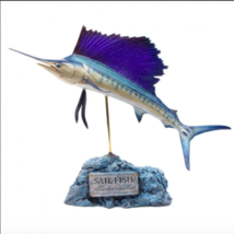 KAIYOUKOUBOU Indo-Pacific sailfish figure fish carving Free Shipping Fro... - $316.19