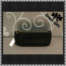 "Black Sequin Clutch Purse ""Love"" by The Gap - $7.99"