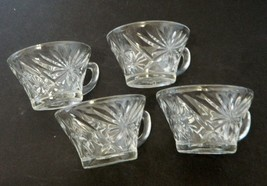 EAPC Anchor Hocking early American Prescut Star of David Punch Cups Lot ... - $14.73