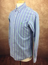 Polo Ralph Lauren Custom Fit Blue Green Red Stripe Long Sleeve Shirt Men... - $22.72