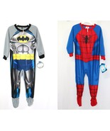 AME Little Boys One Piece Footed BATMAN or SPIDERMAN Pajamas 3T - $26.99