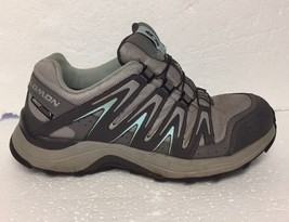 Women's Salomon XA Comp 7 Trail-Running Hiking Athletic Shoes Size 6.5 Gray Teal image 2