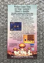 Vintage 1993 Disney's Aladdin Sega Genesis Promotional Insert - 100% Aut... - $7.60