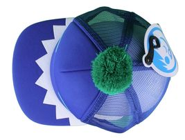 Neff Men's Blue Monster Snapback Baseball Pom Hat Cap NWT image 6