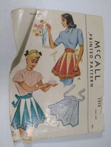 Vintage 40s-60s McCalls Women's Cooking Aprons  - $14.01