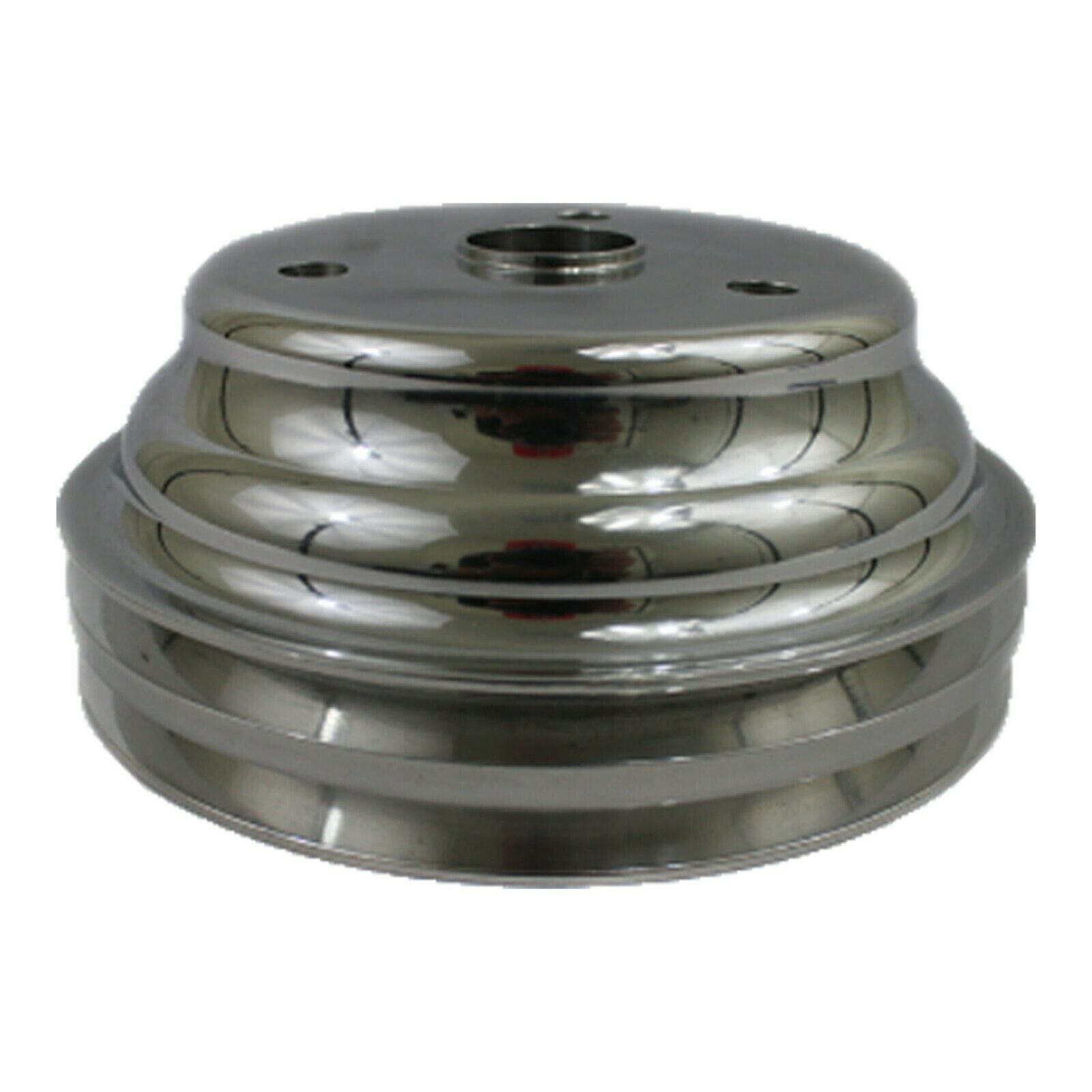Chevy Small Block Long Water Pump Double Groove Aluminum Crankshaft Pulley