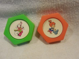 Flintstones 1991 Post Pebbles Cereal Premiums 2 Ink Stampers Dino & Pebbles - $5.95