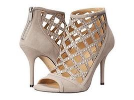 MICHAEL Michael Kors Women's Yvonne Open Toe Bootie, Grey Size 6.5 - $102.84