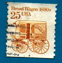 Scott  #2136 Used US Postage Stamp (1985) 25 cent Bread Wagon - $1.99