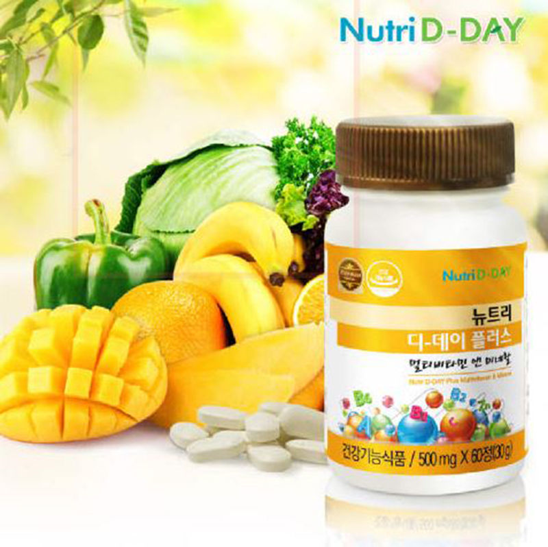 Nutri D-Day Plus Multi Vitamins & Minerals 500mg x 60 Tablets