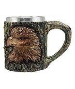 Ebros The Surveyor Wildlife Majestic Bald Eagle Coffee Mug With Rustic T... - $22.76