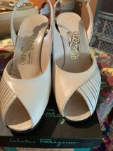 Salvatore Ferragamo Womens Size 7.5 Bone Sling Calf Shoes - $28.05