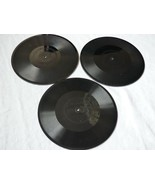 lot 3 Antique 1912-21 Edison Diamond Record Thick Disc Phonograph molde... - $64.35