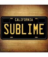 Sublime Punk Rock Band California Vanity Aluminum License Plate Black - $12.82