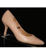 H&M tan man made pointed toe slip on casual pump heels 8.5 EU 40 6253 - $28.66