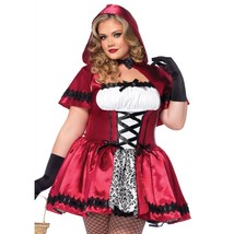 Leg Avenue Women's Plus-Size Gothic Red Riding Hood Costume Red and Whit... - $53.51