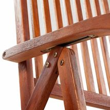 vidaXL 2x Acacia Wood Outdoor Dining Chair Home Kitchen Furniture Seat Dinner image 5