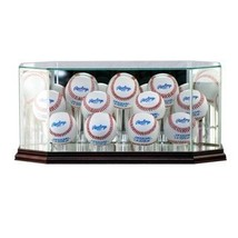 Perfectcase Glass Eleven (11) Baseball Display Case with Cherry Wood Mol... - $105.69