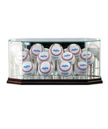 Perfectcase Glass Eleven (11) Baseball Display Case with Cherry Wood Mol... - $106.19
