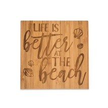 Life Is Better At The Beach Bamboo Coaster Set - Brownlow - $158,90 MXN