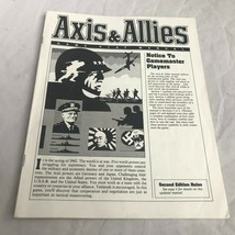 1986 1987 Axis & Allies Replacement Parts - Instruction Manual No damage... - $12.30