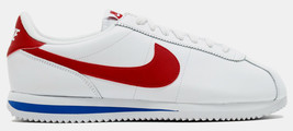 Nike Men's Cortez Basic Leather OG Forrest Gump White/Royal/Red 882254-164 - $69.95