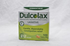 Dulcolax Laxative Tablets Bisacodyl USP Constipation relief 100 Count - $13.86