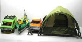 Cabela's Field & Stream Lot Tent+Ford Bronco w/Boat Trailer & Skiff+Fish... - $45.80