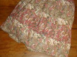 Ralph Lauren Hearthside Floral Ruffled Twin Bedskirt Rare 15 Inch Drop - $39.57